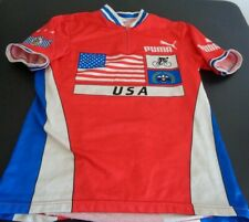 Puma Adult Vintage Cycling Jersey Made In Usa Flag Eagle Medium Free Shipping