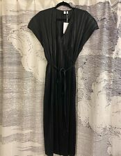 & And Other Stories Plisse Pleated Wrap Dress Black Size 10 US *NEW with tags*