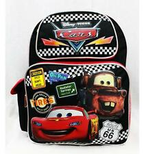 "NWT CARS Medium Backpack School Bag 14"" Licensed Disney Cars Lightning McQueen"