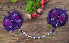Personalised stunning pram charm in purple baby girls