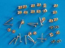 50 paia di GP 4 mm Pad Piatto Orecchino pali, incl PERGAMENE, i risultati per gioielli