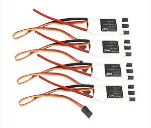 4X JMT 30A SimonK 2-4S Lipo 5V 3A BEC Brushless ESC Mini Speed Controller f 380