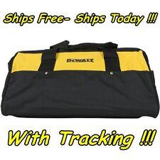 "DeWalt 19""x12"" 10 Pocket Heavy Duty Nylon Canvas Contractor Tool Bag Case Large"