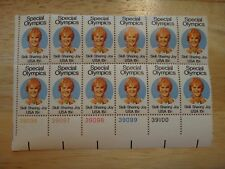 Block of 12 US Stamps 15 cent Special Olympics Skill Sharing Joy
