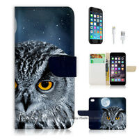 ( For iPhone 7 ) Wallet Case Cover P1491 Owl Moon