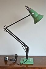 ORIGINAL 1930's HERBERT TERRY ANGLEPOISE LIGHT GREEN PERFORATED SHADE BLACK ARMS