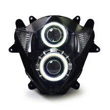 KT for Suzuki GSXR1000 2005-2006 HID Projector Headlight Assembly LED Angel Eye