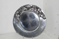 "12.25"" Pewter Western Horse Round Serving Tray-Equestrian"