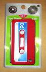 cassette tape soft silicone cover for apple IPhone 4 4s Case Red x 2 (Item 39)