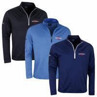 Callaway Golf Mens LC Logo Stretch Waffle 'Odyssey Logo' Sweater Pullover