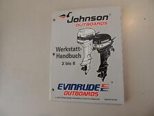 1997 Werkstatthandbuch Johnson Evinrude Außenborder 2 2.3 3.3 3 4 5 6 8 PS