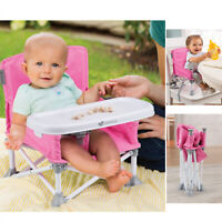 Portable Highchair Booster Seat Summer Infant Pop n Sit 2 in 1  - Pink