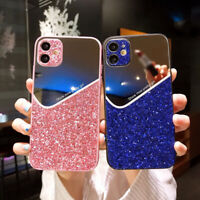 Bling Glitter Case For iPhone 12 11 Pro Max XR XS 8 7 SE Mirror Phone Hard Cover