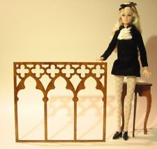 Gothic window for Barbie, FR 1/6 1:6 scale dollhouse wooden furniture V11