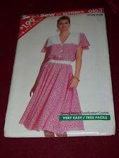 BUTTERICK 6163-LADIES LOOSE FITTING-ELASTIC WAIST DRESS w/COLLAR PATTERN 16-24FF