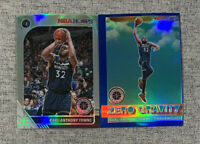 Karl Anthony-Towns 2019-20 Premium Stock SILVER Prizm + Zero Gravity Blue Prizm