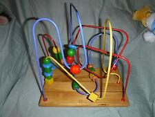 "Sensory Motor Skills Toddler Baby Toy Wooden Puzzle Maze 11""x11""x""7 Sturdy"