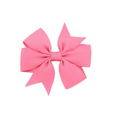 3'' Grip School Hairpins Bow Girls Hair Bow Clip Slide Grosgrain Ribbon Headwear