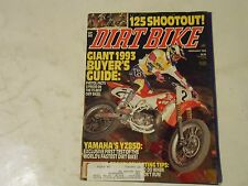 Februar 1993 Dirt Bike Magazin, Yamaha YZ850, Giant Buyers Guide 125 Schießerei,