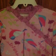 Baby Lulu Size 6 Month Ruffle Footy Lavender With Turquoise And Pink Birds NWT