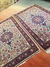 Spectacular Pair Of fine Antique Persian Oriental Area Rug Fine Elegant Rare A+