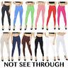 Womens Full Length Cotton Leggings Plus Size 8 10 12 14 16 18 20 22 24 26 28 30