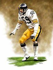 Jack Ham Pittsburgh Steelers 8 X 10 Giclee by James Byrne Series 1