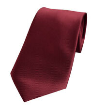 Luxury Wedding Tie Wedding Plain Merlot Red Silk 741