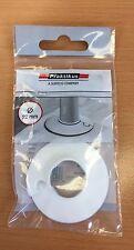 Praktikus Rohrrosette Kunststoff 22 mm weiß