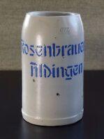 Aufgelegt Maß Brauerei Krug AldingenTuttlingen Rosenbrauerei 0,7 L beerstein