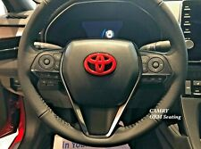 Toyota Camry and Corolla Emblem Steering Wheel Blackout or Red Overlay