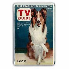 RETRO TV GUIDE: LASSIE THE WONDER DOG  JUMBO FRIDGE  / LOCKER MAGNET