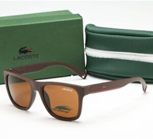 LACOSTE SUNGLASSES Brown Lenses Hand Made in France RRP $150 New Like