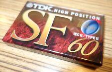 TDK SF60 Cassette a nastro 10 Pack-Custodia Completo di 10 SIGILLATO Nuovo di Zecca & CASSETTE