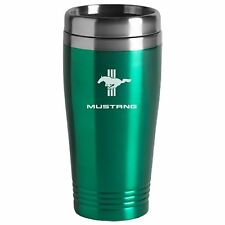 Ford Mustang Tri-Bar Cobra SVT GT Mach 1 Green Travel Mug Cup Stainless Liner