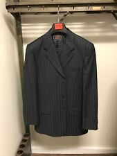 Jean Paul Super 150s charcoal 40 Long 3 piece Suite Milan Italy