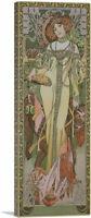 ARTCANVAS Autumne 1900 Panoramic Canvas Art Print by Alphonse Mucha