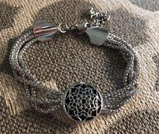 Jewel La La Snap Jewels Silver Four Strand Chain Bracelet w Moroccan Snap