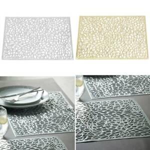 Hitzebeständig Rutschfest Rechteckige Tischset Quadrat Platzdeckchen Abwaschbar