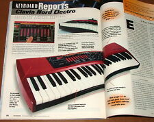 2001 Clavia Nord Electro KEYBOARD Report, Roland Symphonic Strings, Magazine
