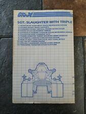 G.I. Joe GI Joe GIJoe Blueprints Instructions - Slaughter with Triple T