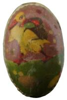 Antique German Paper Mache Easter Egg Candy Container Duck Backpack Basket 3""