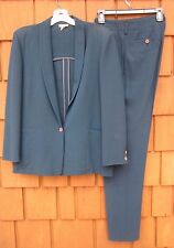 "Vintage Women's Suit ""COMPLICE"" By Charles Galley Jacket & Pant Blue Size 8 US!!"