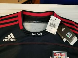 ADIDAS Authentic New York Red Bulls  Long Sleeve Jersey BNWT LARGE
