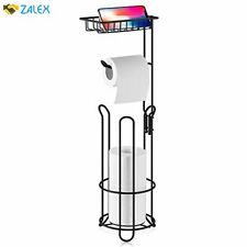 Xeex Free Standing Toilet Paper Holder with Shelf Bathroom Toilets Tissue roll S
