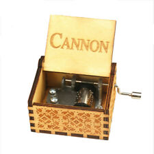 World Famous Hand Crank Wooden Music Box Cannon Famous Songs Music Box Gifts