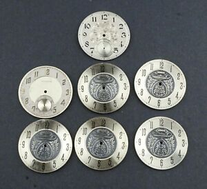 WALTHAM LOT OF 7 SOLID SILVER DIAL # MA46