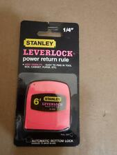 VINTAGE NEW OLD STOCK STANLEY 6' POCKET TAPE MEASURE PINK LEVERLOCK MADE IN USA