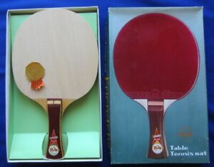 "VINTAGE FRIENDSHIP ORIGINAL 7 PLY SHAKEHAND ""E"" TABLE TENNIS RACKET BLADE MIB"