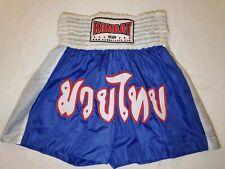 "Kombat Muay Thai Kick Boxing Shorts Blue Training Nwot 26""-30"""